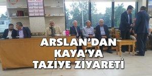 Arslan'dan Kaya'ya taziye ziyareti