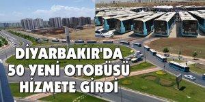 Diyarbakır'da, 50 yeni otobüs hizmete girdi
