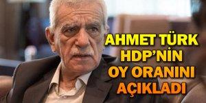 AHMET TÜRK HDP'NİN OY ORANINI AÇIKLADI