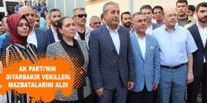AK Parti'nin Diyarbakır vekilleri mazbatalarını aldı