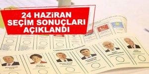 YSK, 24 Haziran seçimlerinin sonuçlarını açıkladı