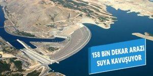 158 Bin Dekar Arazi Suya Kavuşuyor