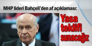 MHP lideri Bahçeli'den af açıklaması: Yasa teklifi sunacağız