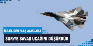 İsrail, Suriye'ye ait savaş uçağını düşürdü