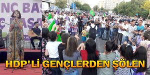 HDP'Lİ GENÇLERDEN ŞÖLEN