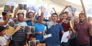 Siverek semt pazarı esnaflarından  dolar protestosu