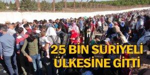 25 bin Suriyeli ülkesine gitti