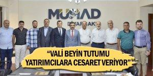 Vali Güzeloğlu,Ziyarette Ekonomik Gelişmeleri Değerlendirdi