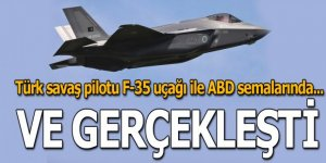 Türk savaş pilotu F-35 uçağı ile ABD semalarında...
