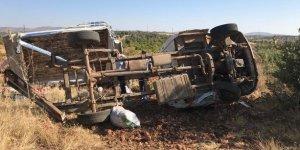 Tarım işçileri kaza yaptı