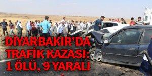 1 kişi öldü, 2'si ağır 9 kişi yaralandı