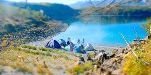 Nemrut Krater Gölü'nde kamp heyecanı