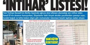 Tigris Haber'in manşeti üzerine okullara soruşturma