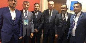 Erdoğan, Diyarbakırlı İlçe Başkanlarıyla bir araya geldi