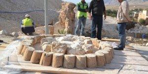 Hasankeyf'te iki cami minaresinin taşınma işleminde sona yaklaşıldı