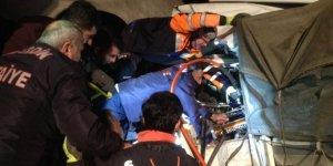 Cizre'de TIR'lar çarpıştı, 2 sürücü ağır yaralandı