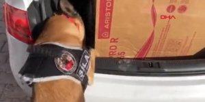 VİDEO-Arabanın termosifonunda 55 kilo eroin saklayan kişi yakalandı