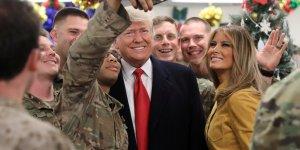 ABD Başkanı Trump Irak'taki askerlerini ziyaret etti