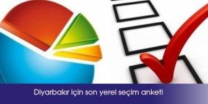 Diyarbakır için son yerel seçim anketi