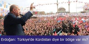 Erdoğan: Türkiye'de Kürdistan diye bir bölge var mı?