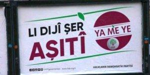 Şanlıurfa'da HDP'nin seçim afişleri toplatıldı