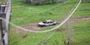 Fiskaya'da bir araç ateşe verildi