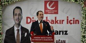 Yeniden Refah Partisi Genel Başkanı Fatih Erbakan Diyarbakır'da