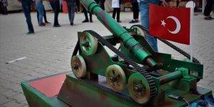 Lise öğrencisinden 'insansız mini tank' projesi