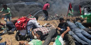 İsrail'in Gazze saldırılarında, biri anne karnında 7 Filistinli şehit oldu