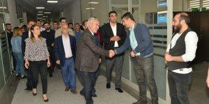 Mızraklı'dan ilçe belediye başkanlarına ziyaret