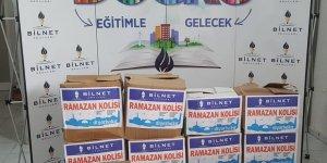 Bilnet okullarından Ramazan ayı için gıda yardımı