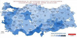 Türkiye'de 2 milyon 254 bin Diyarbakırlı nerede yaşıyor?