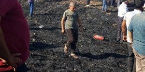 Diyarbakır'da 50 dönümlük ekili arazi kül oldu