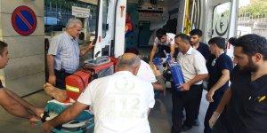 Elektrik akımına akıma kapılan genç yaralandı