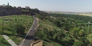 """VİDEO - Sur'daki  """"Millet Bahçesi"""" havadan görüntülendi"""