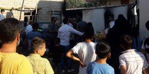Bismil'deki yangını mahalleli söndürdü