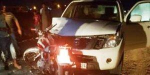 Urfa'da kamyonetle motosiklet çarpıştı: 2 yaralı