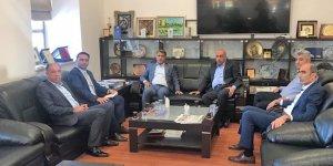 Borsa Başkanı Yeşil'den DTSO Başkanı Kaya'ya ziyaret