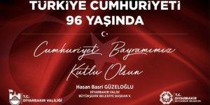 Vali Güzeloğlu'ndan Cumhuriyet Bayramı mesajı