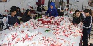 Kızıltepe'de tekstil atölyesi gibi lise