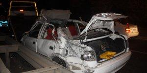 Düğün dönüşü feci kaza: 1 ölü, 1 yaralı