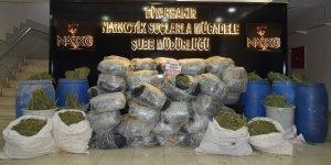 Diyarbakır'da narkotik operasyonu: 559 kilo esrar ele geçirildi