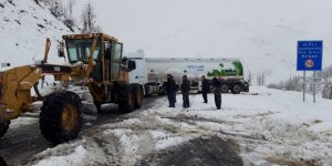 Şırnak ve Hakkâri'de kar yağdı araçlar yolda mahsur kaldı