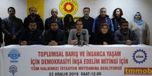 Diyarbakır'da 'Toplumsal barış ve demokrasi' mitingi 22 Aralık'ta