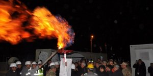 Midyat'ın Düzoba mahallesinde doğalgaz sevinci