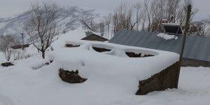 Muş'ta dam boyu kar