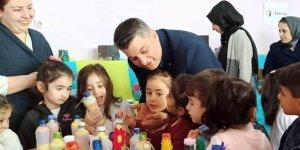 Diyarbakır'da anaokulu öğrencilerinden çevre hassasiyeti