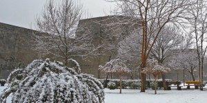 Diyarbakır'da yılın ilk kar yağışı