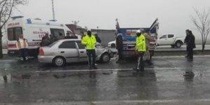 VİDEO - Diyarbakır'da zincirleme kaza