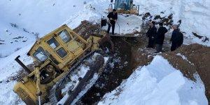 Siirt'te iş makinesi devrildi: 1 yaralı